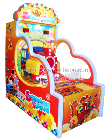 steam train ball throwing arcade games for indoor playground