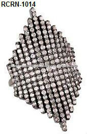 925 Sterling Silver Pave Diamond Ring
