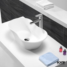 New design bathroom vanity basin solid surface raw material basin