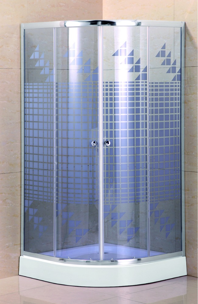 Factory price tempered glass round curved shower screen