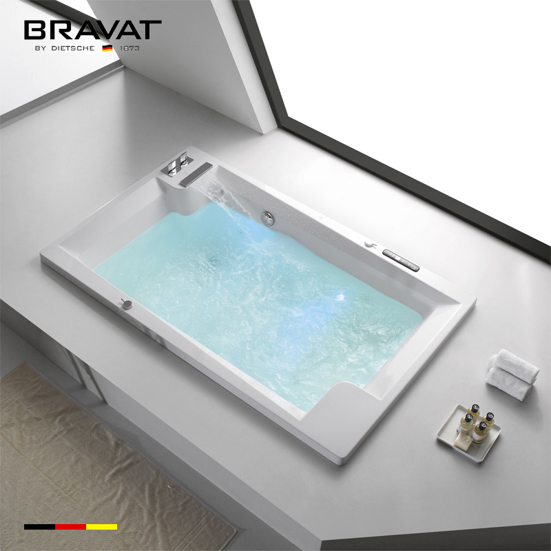 Whirlpool Tub And Air Bath Rectangular Drop In Bathroom Bathtub ...