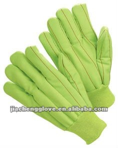 JS20FG Corduroy Cotton Hot Resistant Glove, Safety Glove, Heat Proof Gloves; China