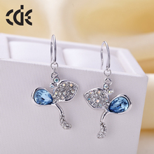 CDE Guangzhou China fashion 2017 jewelry factory bulk wholesale crystals from Swarovski new model design earrings