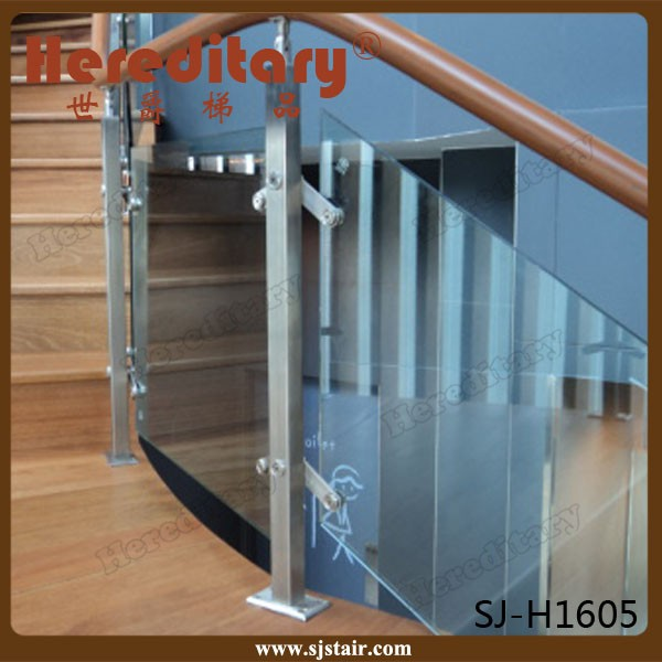 indoor wooden handrail laminate glass stainless steel stair cases railings