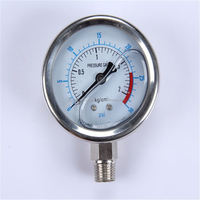 Specially designed Hot Sale High Quality clear to read glycerin filled pressure gauge manometer
