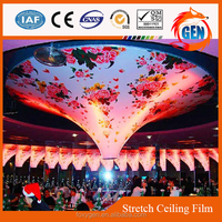 colorful plastic hanging down false ceiling decors pvc waterproof printed film
