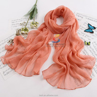 Ladies spring floral Muslim hijab,stereo embroidery pattern, plain silk chiffon shawls,women scarves