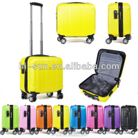 12 colors High Quality Business luggage suitcase spinner trolley boarding case notebook computer case ABS laptop case