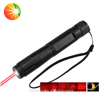 200mW high power multi-pattern red laser pointer adjustable focus laser pen with 5 caps