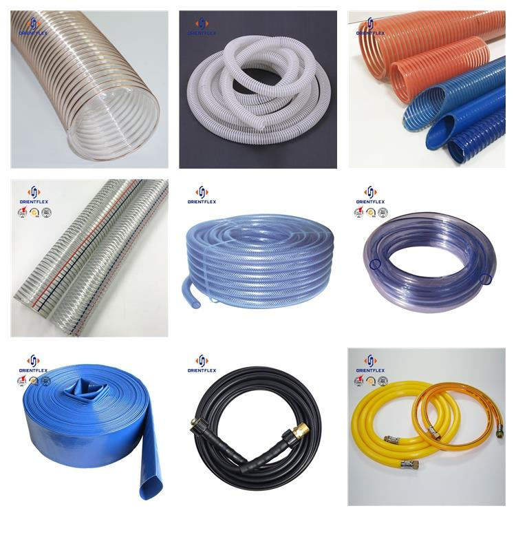 thick flexibility plastic pvc steel wire 4 inch dust collection hose distributor