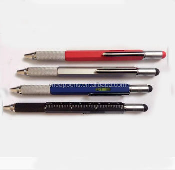 metal printing ball pen, screwdriver ruler spirit level multi tool pen
