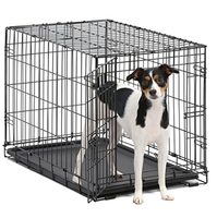 MidWest iCrate Single Door & Double Door Folding Metal Dog Crates for different size