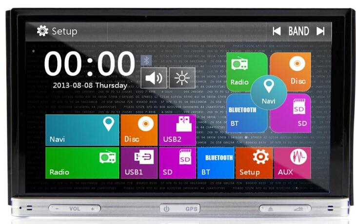7inch two din HD TFT screen Car dvd player DJ7053 with external DTV 3G MTK3360 solution for all universal cars