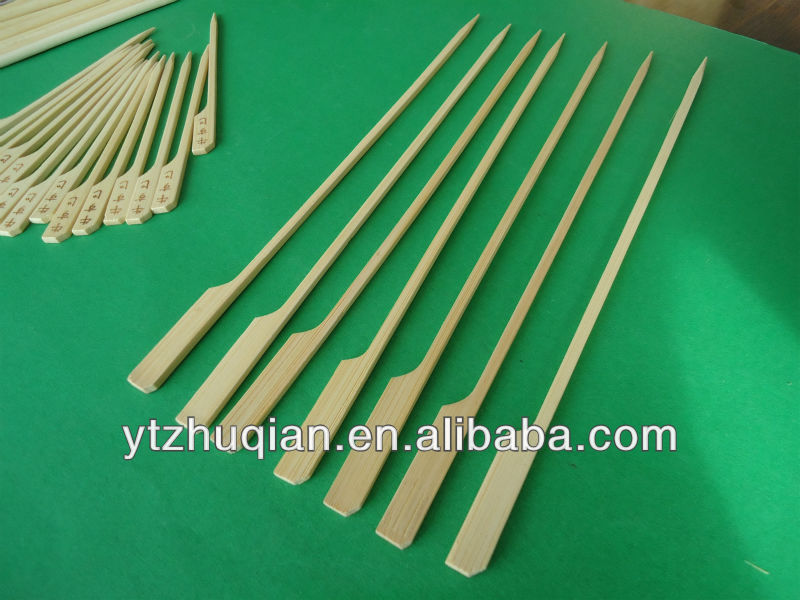 Gun Shaped Paddle Skewers Bamboo Teppo Gushi Paddle Skewers for Buffet Canapes