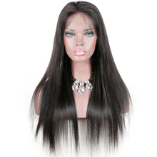 Factory Wholesale Price Free Shipping Fast Full Lace Yaki Human Hair Wig