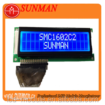 special STN Blue negative character lcd 16 * 2 display module
