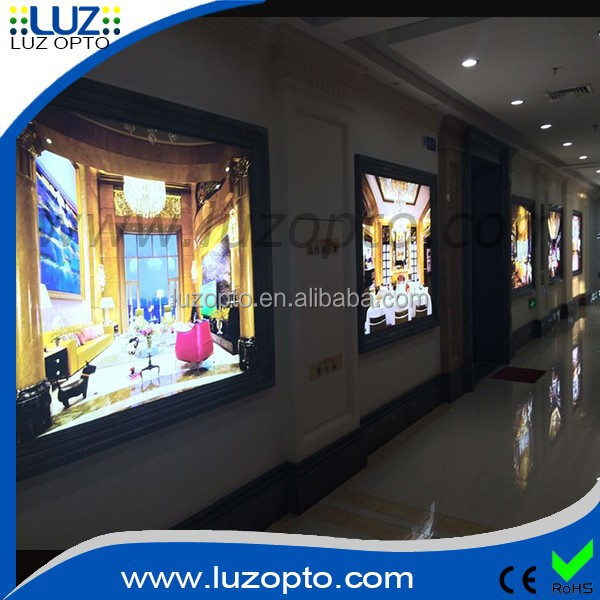 large thick led frame, Frameless Fabric Series poster displays and light box displays