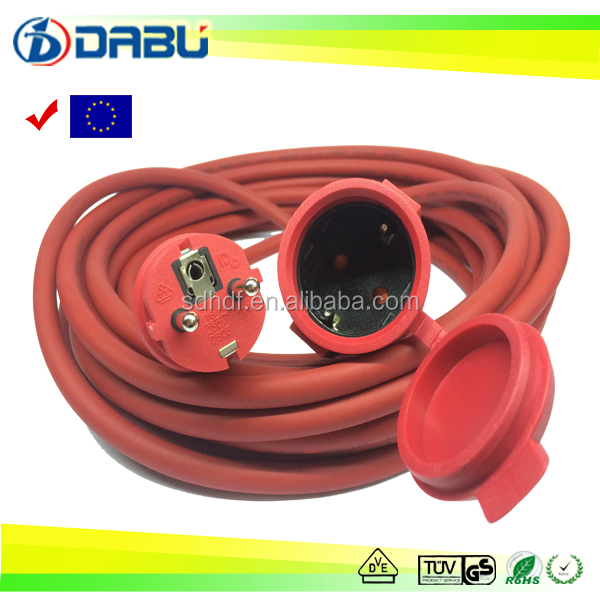 3G1.5mm2 Rubber Insulation ac Extension Cord with CE/EMC LVD ROHS Certification