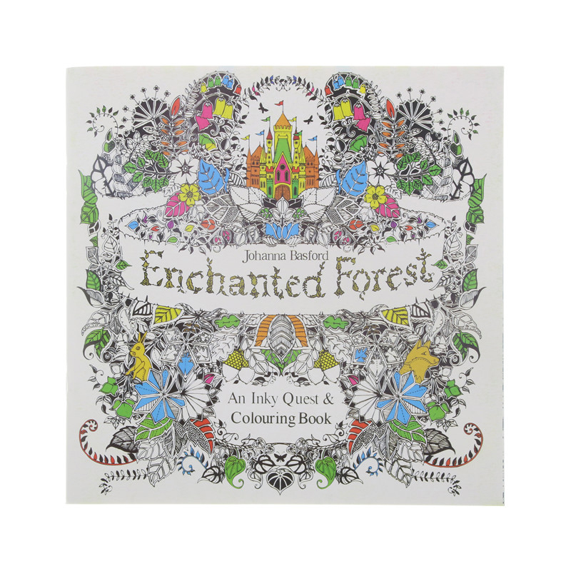 24 páginas bosque encantado edición en inglés libro para colorear ...