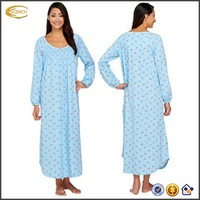 latest cotton ladies nightgown patterns lady's long night gown