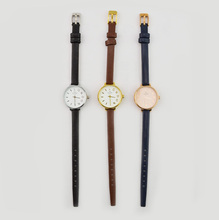 Fashion KS style slim band wrist watch ladies leather strap watch