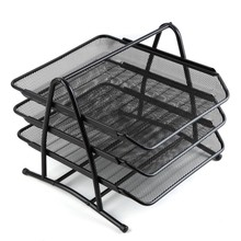 3 tiers office file desktop metal file tray/ letter tray / document tray