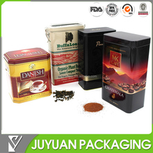 High quality Airtight coffee tin with degassing valve and transparent plastic lid