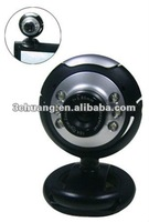 popular PC web camera HD 300K 1.3W 2.0W pixel Webcam with 6 LED night version