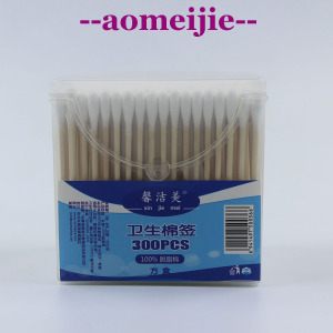 Eco-Friendly Multifunction Double Head 100%pure Cotton swab For ear cleaning
