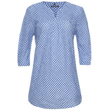 stripe-check fashion linen woman shirt