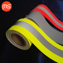 En20471 II reflective fabric rolls reflective fabric tape for safety clothing