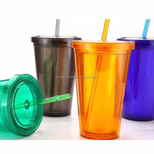 Acrylic double tumbler with removable insert wholesale