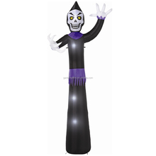 high quality blower motor led lighting halloween airblown inflatable 12ft Skeleton party decoration