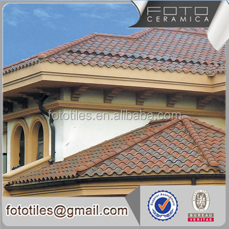 Chinese ceramic villa concrete roof tile