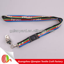 Polyester good quality whistle lanyard for coach used