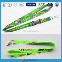 china supplier custom sublimation lanyards polyster material lanyard