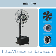 "Commercial 26"" High-Velocity Outdoor indoor Misting Fan Black Industrial Cool"