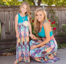 beautiful long frocks images mommy and me summer cotton maxi dress