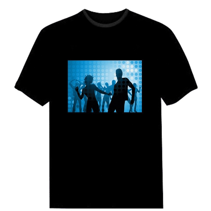 led hip hop flashing t shirts.LT-060