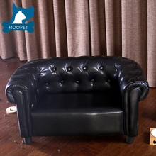 2017 New Design Leather Black Pet Bed PU Pet Sofa pet bed Furniture
