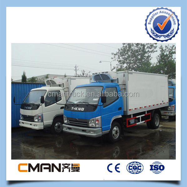 China good performance 3 ton T-king brand widely used refrigerated trucks hot sale