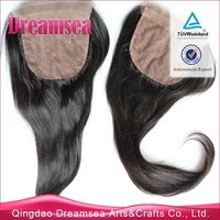 Silky straight silk based closures for American African virgin indian human hair invisible part 4x4 16inch