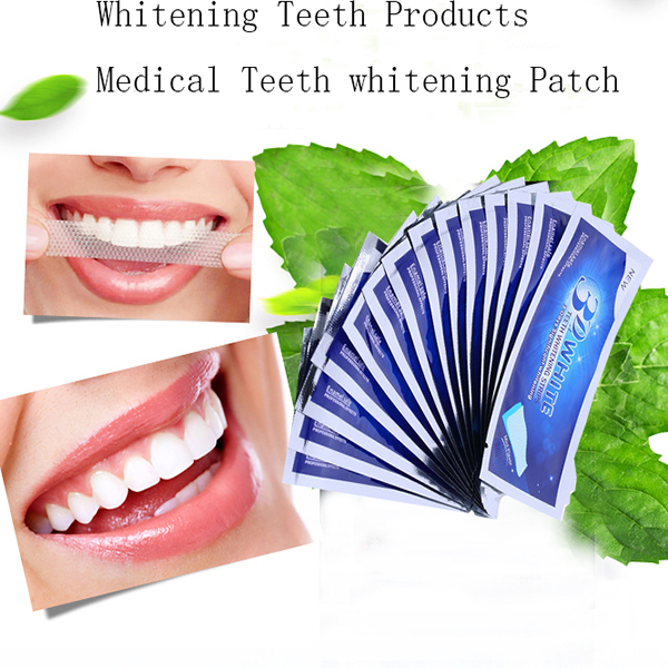 Hot! 14Pairs/Box 3D Teeth Whitening Strips white strips teeth whitening strips teeth bleaching whitestrip