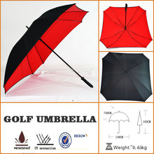 black promotional easy sun parasol square golf umbrella with EVA handle