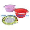 Collapsible Silicone Colander with S/S Frame, Perforated Base & Silicone Rims, Collapsible Houseware / Houseware, for outdoors