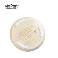 MaPan Hot selling 2017 fantasy fast quick charge safe car phone MF04 wooden wireless charger