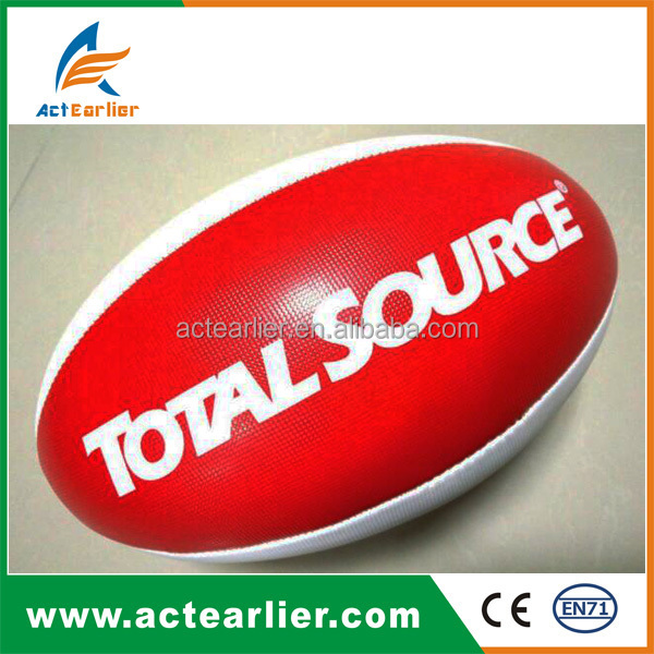 cheap custom pu leather machine stitched shiny matt pvc rugby ball