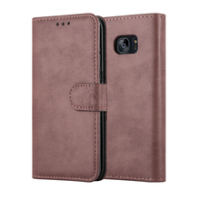 S7 Edge Case , Luxury Retro Book Folio Flip Leather Wallet Case For Samsung Galaxy S7 EDGE