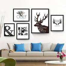 XM001 Amazon Hot Seller Simple Design Deer Wall Canvas Painting Picture Frame
