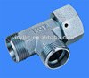 Hydraulic pipe fitting metric thread bite type tube adaptors run tee fittings with swivel nut S series